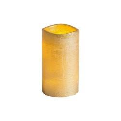 Schlaraffenland CASAYA LED Kerze Rustic D.7,5 h12,5 cm gold ohne Batte 4951