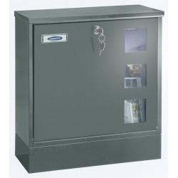 Rottner Sicherheit Briefkasten Postale grey H380xB370xT120 inkl. . Z-Box S T06049