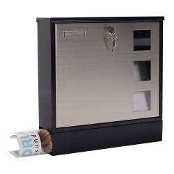 Rottner Sicherheit Briefkasten Design schwarz Edelstahl T05535