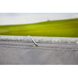 Windhager Balkonblende Malta 0,9x5 m silb.grau 06797