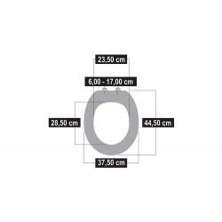 Conmetall ANETO WC-Sitz weiss Duroplast, m.Absenkautomatik,a KSANSC00