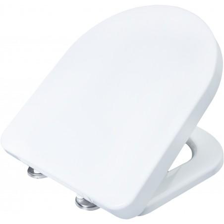 Fabulous Conmetall D-Form WC-Sitz weiss Duroplast mit Absenkautomatik QH49