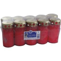 Grablicht Brenner T3 mit Goldd 10er Pack, rot, Brenndauer ca. 01025-000000