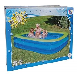 Happy JumboPool WaterWave 262x175x50 transpar.blau, Design waterwav 77782