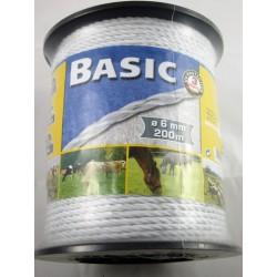 Landwirtschaftstechnik Basic Classe, Pe-Seil, 6mm 200m, 6X0,20 Niro, Weiss 441500