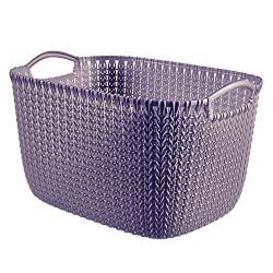 Curver Aufbewahrungskorb Knit (Strick L, 38,5x28,5x23,5 cm Purple 03700-X66-00