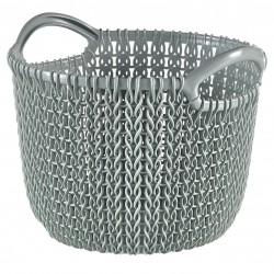 Curver Aufbewahrungskorb Knit (Strick XS, 20,4x19,5x15,7 cm rund mis 03701-X60-00