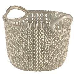 Curver Aufbewahrungskorb Knit (Strick XS, 20,4x19,5x15,7 cm rund oas 03701-X64-00
