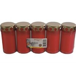 Bolsius Dauerbrenner Nr. 3 mit Deckel 5er Pack rot 103320191241
