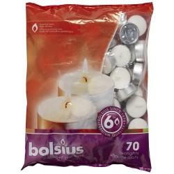 Bolsius 70er Beutel Teelichte 6 H 103630508700