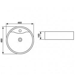 Conmetall TOMAR Aufsatzwaschtisch 45 cm weiss AWTTO4500