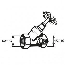 Conmetall Absperrventil m. Entleerung 1 Zoll T571423