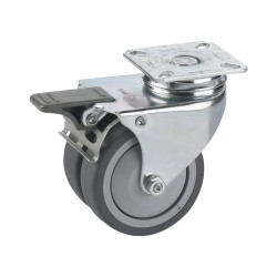 Doerner App.-Doppelrolle 75x25mm Kula Platte 60x60 mm, TF 778410