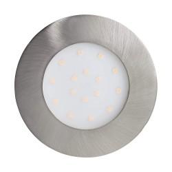 Eglo LED Einbauleuchte Pineda-IP 12W 1000LM 3000K nickel-matt m 96417
