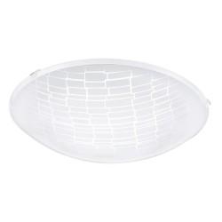 Eglo LED-Wand/Deckenleuchte 11W Glas mit Strukur 96084