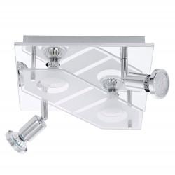 Eglo Deckenleuchte chrom GU10-LED 4-flg. Sat-Klar 31134
