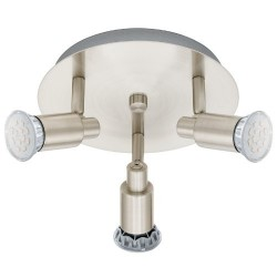 Eglo Led Rondell 3 Flammig Nickel Matt 90828