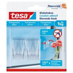 Tesa Klebehaken 2 St, Glas,...