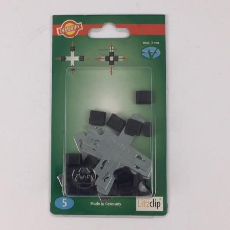 Litzclip Litzen-Kreuzverbinder 3mm verzinkt 5 Stück