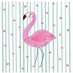 Braun Serviette Flamingo in...