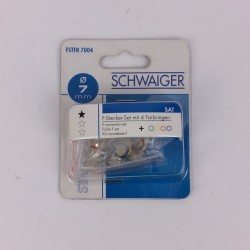 Schwaiger F-Stecker 6,8-7mm...
