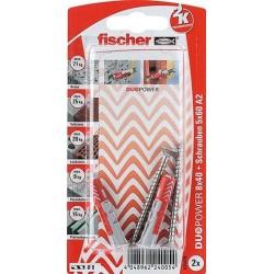 Fischer DUOPOWER Dübel 8x40 S A4 K (2)  535476