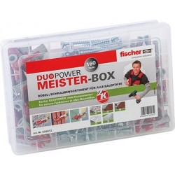 Fischer Meister-Box DUOPOWER + Schraub 160-tlg. Dübel u. Schrauben 535972